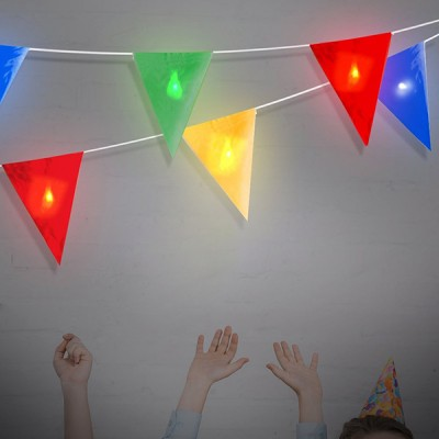 Guirlande LED Fanions (8 LED)