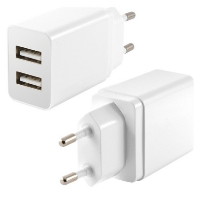Chargeur mural 2 USB 2.4A...