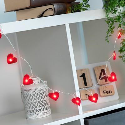 Guirlande LED Coeurs (10 LED)