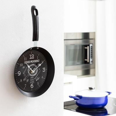 Horloge Murale Poêle Bistro